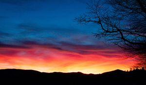 Fiery Sunset Ridge
