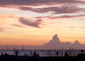 Beach Life Silhouette Sunset View