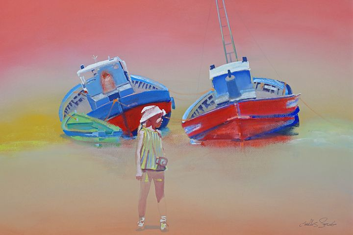 Little Tourist Girl - charles stuart