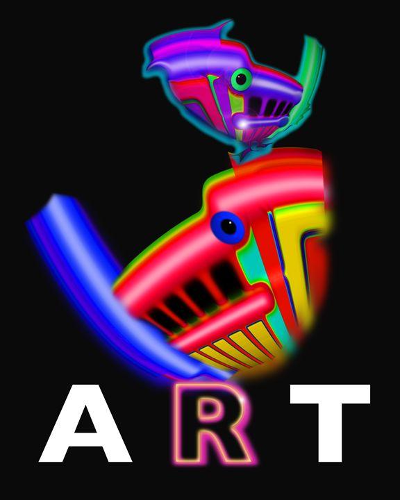 Modern Art Poster - charles stuart