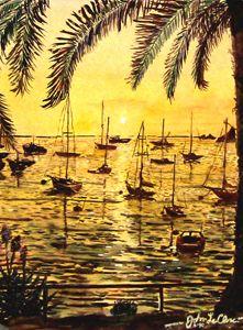 Sunset Mooring Catalina Island