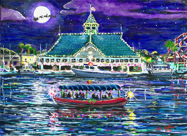 Happy Holidays From Newport Beach - ArtbyLeclerc