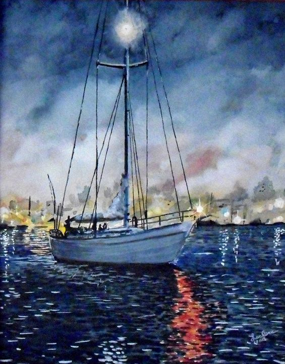 Newport Beach Harbor 4th of July - ArtbyLeclerc