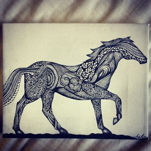 Abstract Horse Silhouette