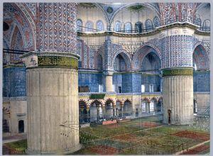 Interior of Sultanahmet Blue mosque - OttomanArchives