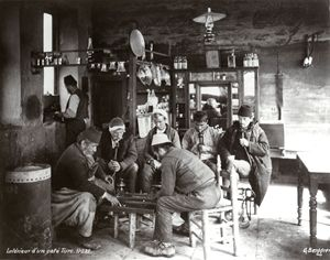 An Ottoman coffeehouse, 1875. - OttomanArchives