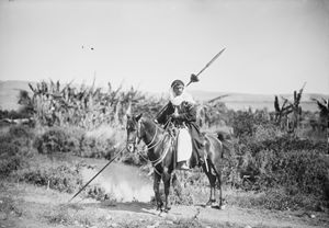 Ottoman Arab Bedouin with spear. - OttomanArchives