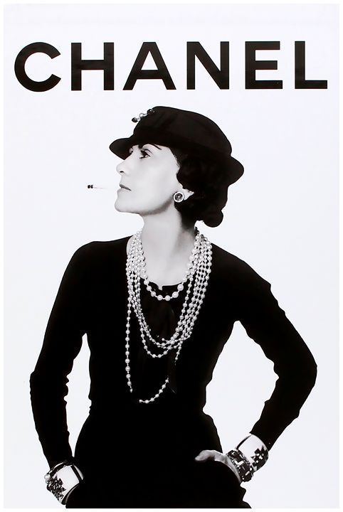 CHANEL Art Print ,Coco Chanel - PDFDecor