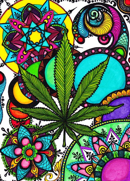 Marijuana Mandala Color - Laura Bridges
