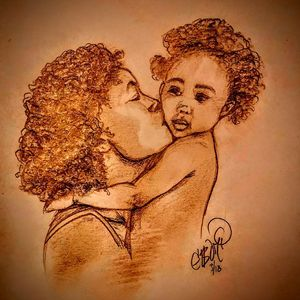 Mother and Baby Kisses