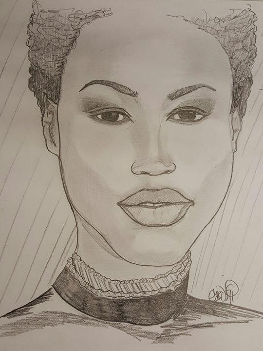 Model in Black - Eboni Lobley Artistry