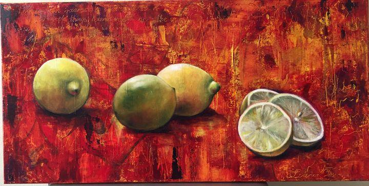 lemons on fire - Iva Cherry