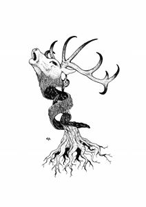 deer and trunk
