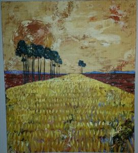 Heila van der Merwe oil on canvas 04