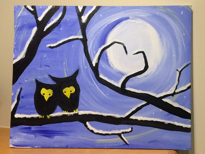Cold night owls - Day art