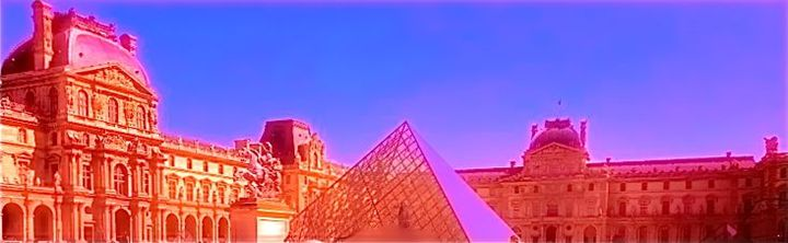 THE LOUVRE IN ELECTRIC VIVID COLOR - Tirzah Fujii