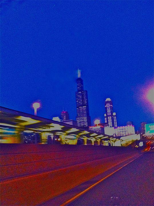 NIGHT-TIME RAILWAY SKYLINE - Tirzah Fujii