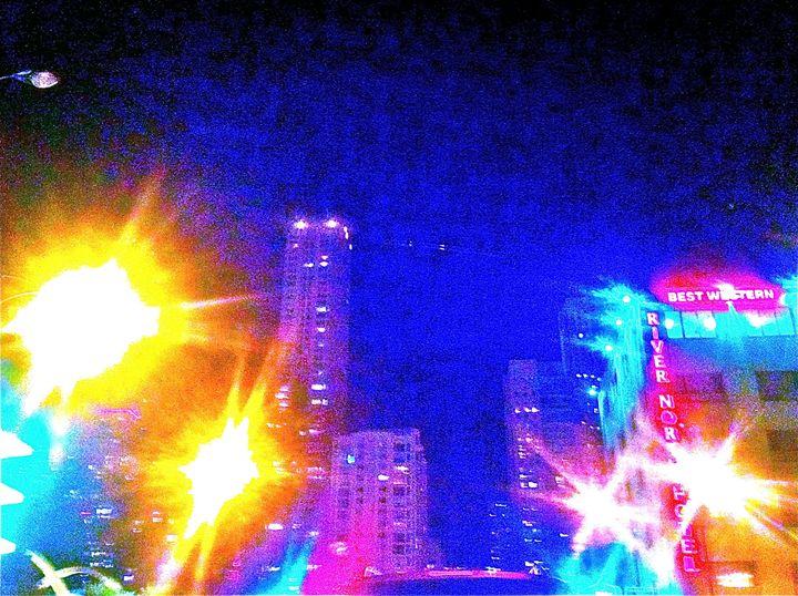 MICHIGAN AVE. BIG CITY LIGHTS UP - Tirzah Fujii
