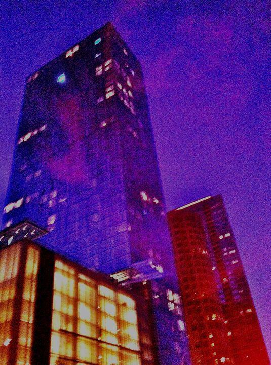 PINK CITY FOG IN ELECTRIC PURPLE - Tirzah Fujii