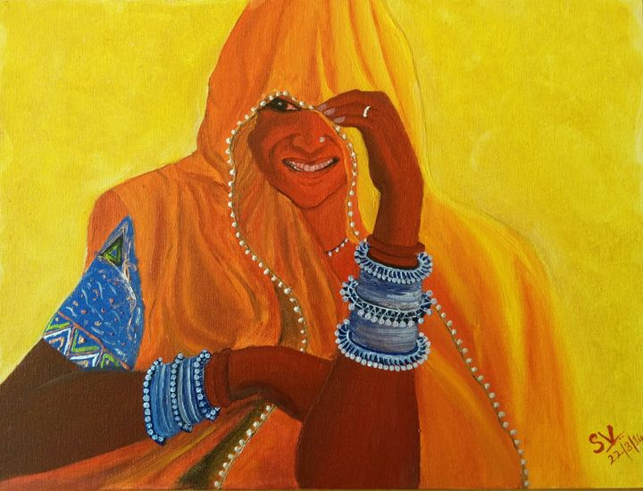 Rajasthani Lady - Shades of My Gallery