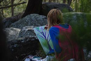 Zelda in forest