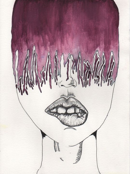 pleading purple - 1derrful art