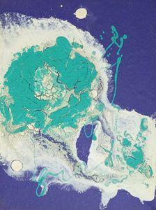 Nebula painted with crackle-glazes 2