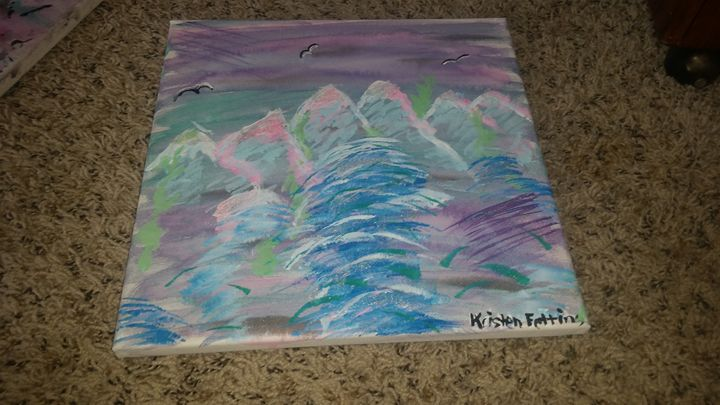 Original Painted Canvas. 12x12. - Krissy's Creations