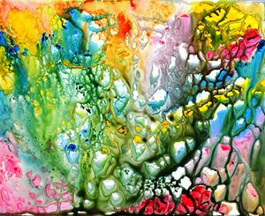 The Coral abstract painting- Colorfu