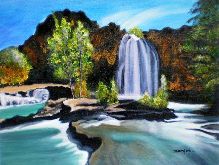 The Waterfall - artbymanjiri