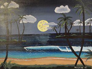 Tropical Beach Night