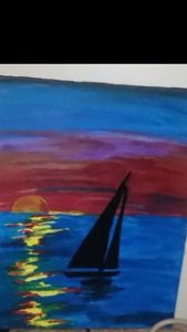 Sailing pass the horizon
