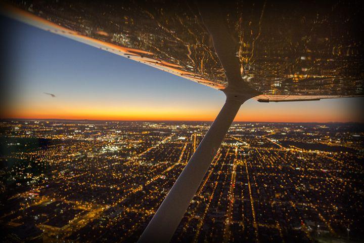 Montreal NIght Flight - Shootitall Photo