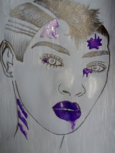 Splashed Purple