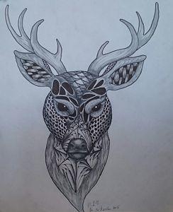 Zentangle Buck