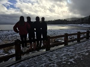 Girls overlooking Lake Tahoe