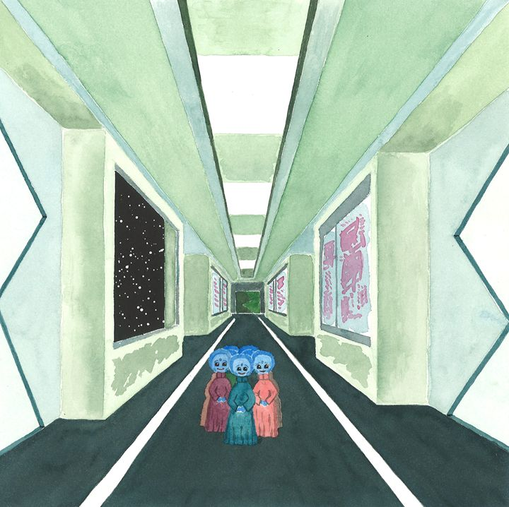 Inside the Space Ship - Kim Polinder