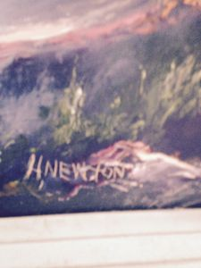 SIGNATURE OF HAROLD NEWTON PAINTING