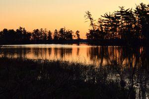 Sunrise over Hamlin Lake