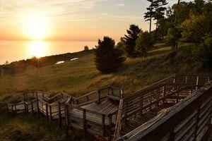 Muskegon State Park Lake Michigan