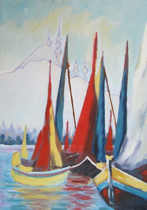 Port à Istanbul - Berkan'Art
