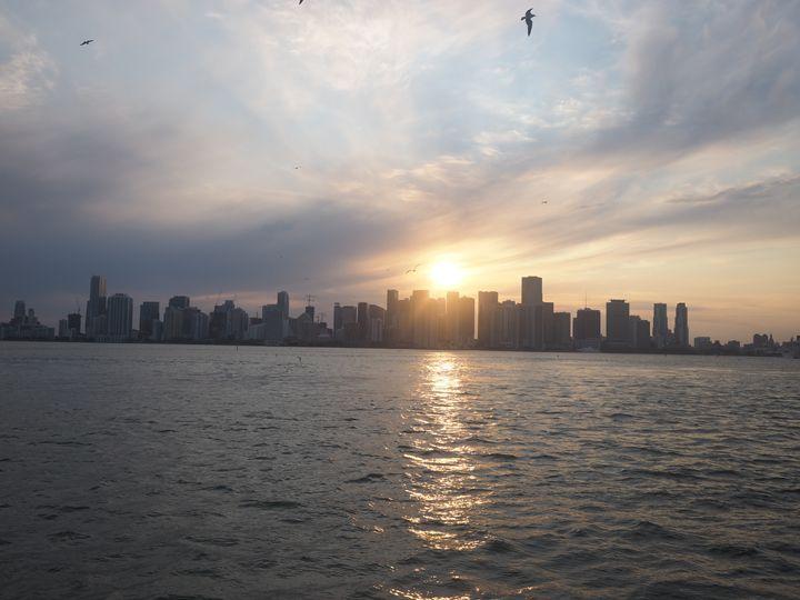 Sunset over the city - Liana