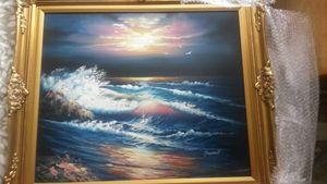 Seashore painting by Toussaint