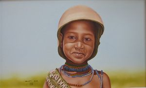 Hammer Child Paintig of Muluken Debe