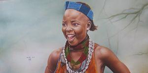 Hammer Girl Painted By Muluken Debeb