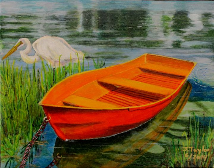 Orange Boat - Art by JAMES B TAYLOR