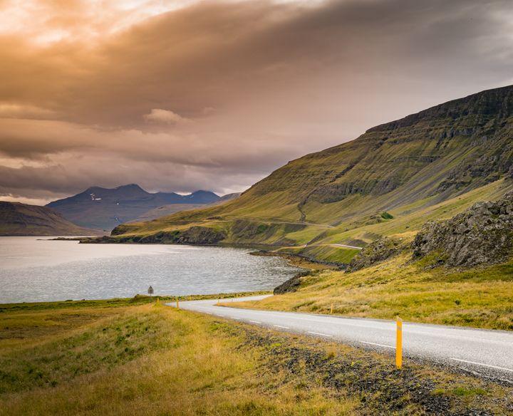 Iceland Coast Line at Sunset - CG Cowboy