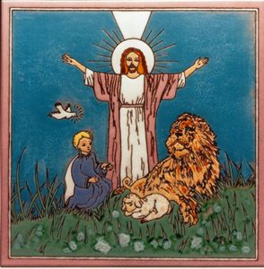 Jesus Christ the lion and the lamb