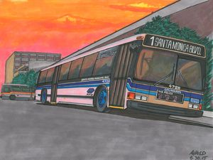 Big Blue Bus, 1981 - AB-SURD9 Ink