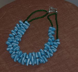 African Glass beads necklace.